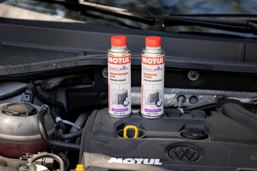 Motul Radiator Clean y el Motul Radiator Stop Leak para el sistema de refrigeración